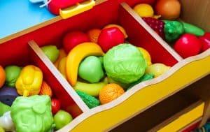 zabawki montessori warzywa